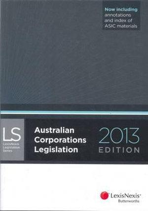 Cover of Australian Corporations Legislation 2013