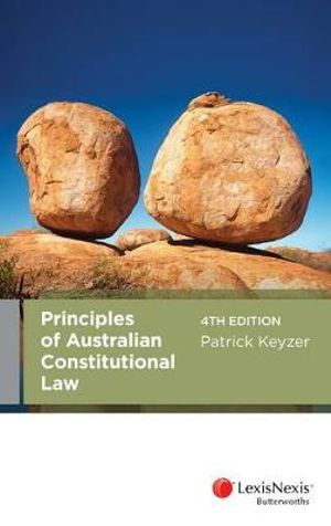 Cover of Principles of Australian Constitutional Law