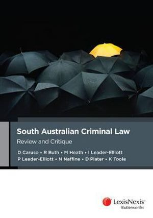 Cover of South Australian Criminal Law