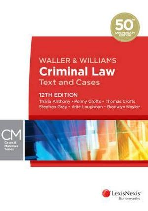 Cover of Waller & Williams Criminal Law