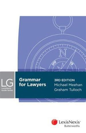 Cover of Grammar for Lawyers