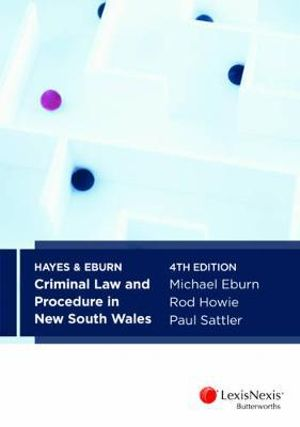 Cover of Hayes & Eburn Criminal Law and Procedure in New South Wales