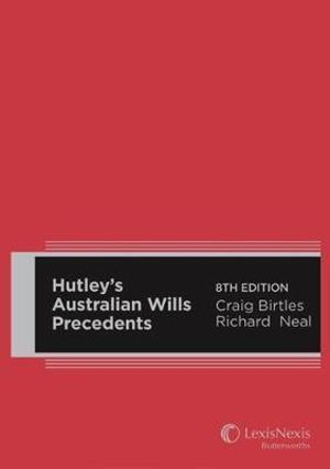 Cover of Hutley's Australian Wills Precedents