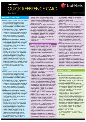 Cover of Torts Quick Reference Card