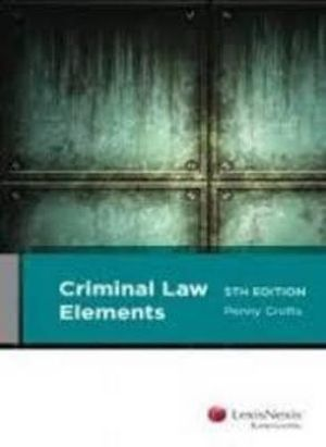 Cover of Criminal Law Elements