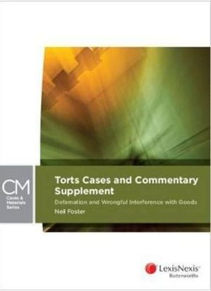 Cover of Torts Cases & Commentary Supplement