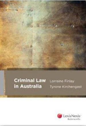 Cover of Criminal Law in Australia