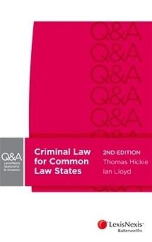 Cover of Criminal Law for Common Law States