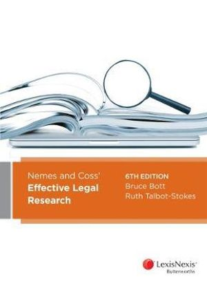 Cover of Nemes and Coss Effective Legal Research