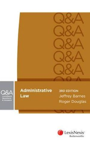 Cover of LexisNexis Questions and Answers - Administrative Law, 3rd Edition
