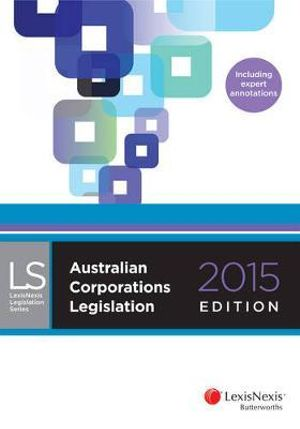 Cover of Australian Corporations Legislation 2015