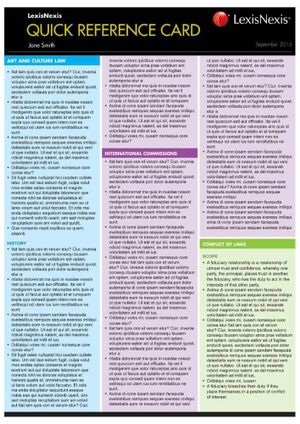 Cover of International Law Quick Reference Card