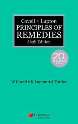 Cover of Covell and Lupton Principles of Remedies, 6th Edition