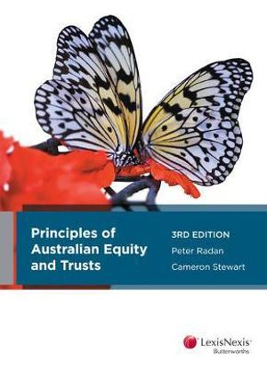 Cover of Principles of Australian Equity and Trusts, 3rd Edition