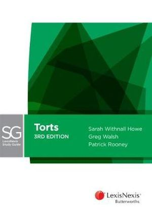 Cover of LexisNexis Study Guide Torts, 3rd Edition