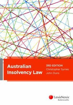 Cover of Australian Insolvency Law, 3rd Edition