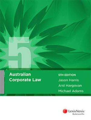 Cover of Australian Corporate Law, 5th Edition