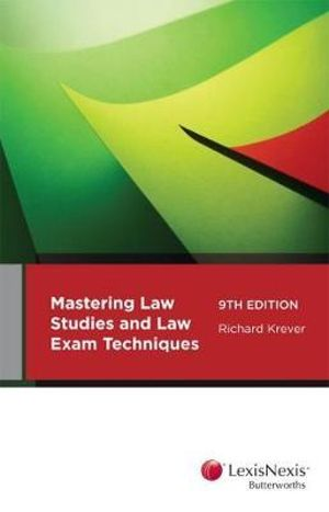 Cover of Mastering Law Study and Law Exam Techniques, 9th Edition