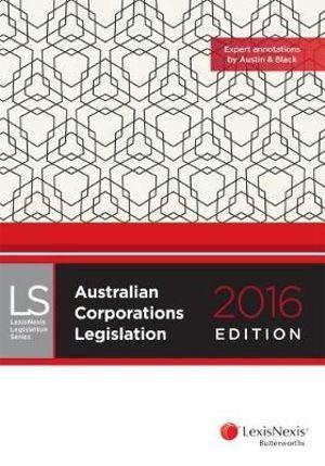 Cover of Australian Corporations Legislation 2016 Edition