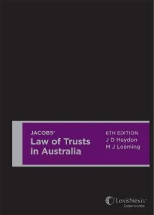 Cover of Jacobs' Law of Trusts in Australia