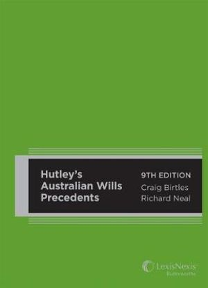 Cover of Hutley's Australian Wills Precedents, 9th Edition
