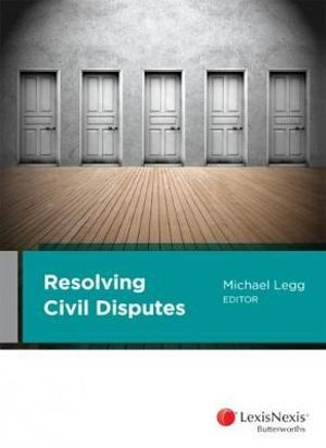 Cover of Resolving Civil Disputes
