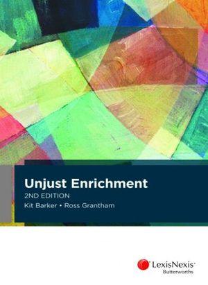 Cover of Unjust Enrichment