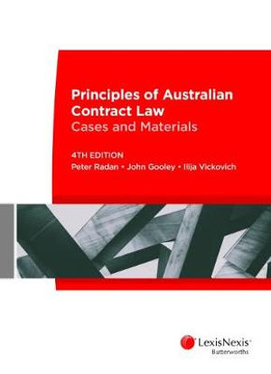 Cover of Principles of Australian Contract Law: Cases and Materials