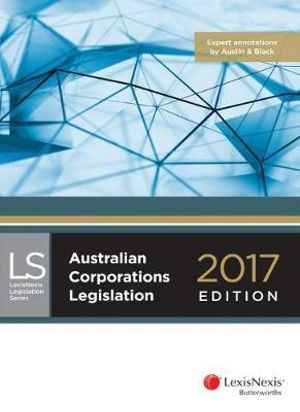 Cover of Australian Corporations Legislation 2017 Edition
