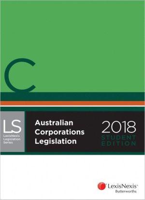 Cover of Australian Corporations Legislation
