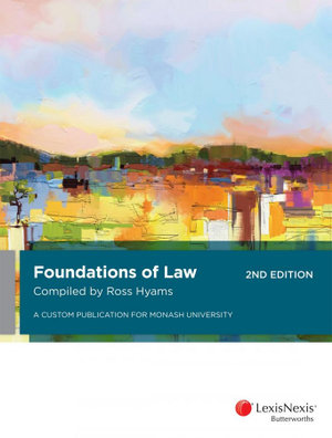 Cover of Foundations of Law
