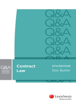 Cover of LexisNexis Questions and Answers: Contract Law