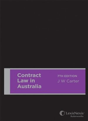 Cover of CONTRACT LAW IN AUSTRALIA.