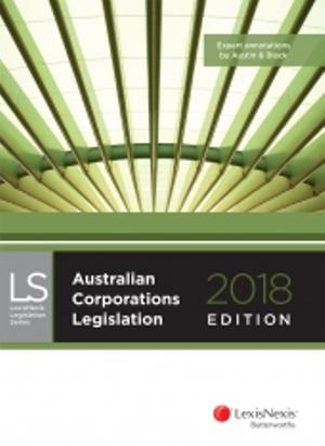 Cover of Australian Corporations Legislation 2018