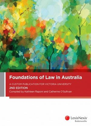 Cover of FOUNDATIONS OF LAW IN AUSTRALIA