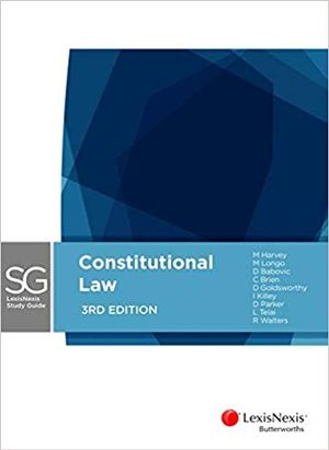 Cover of Lexisnexis Study Guide Constitutional Law