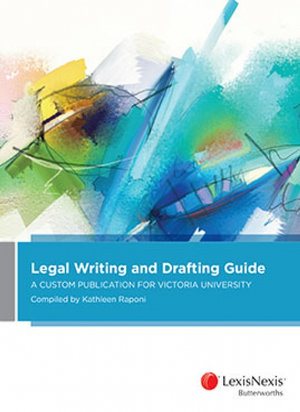 Cover of LEGAL WRITING AND DRAFTING GUIDE