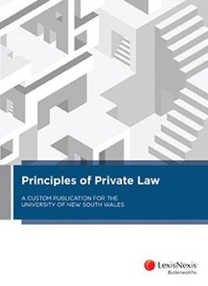 Cover of PRINCIPLES OF PRIVATE LAW