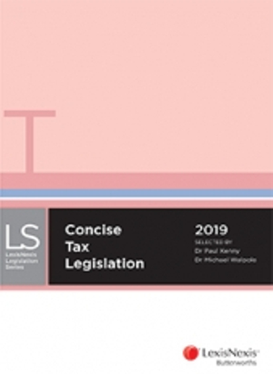 Cover of CONCISE TAX LEGISLATION 2019