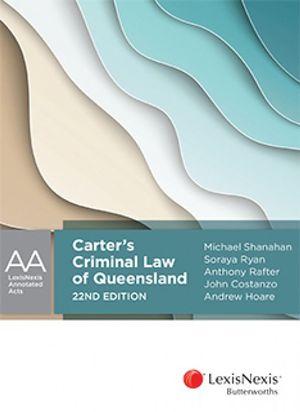 Cover of CARTER?S CRIMINAL LAW OF QUEENSLAND.