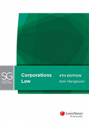 Cover of LexisNexis Study Guide: Corporations Law, 4th edition