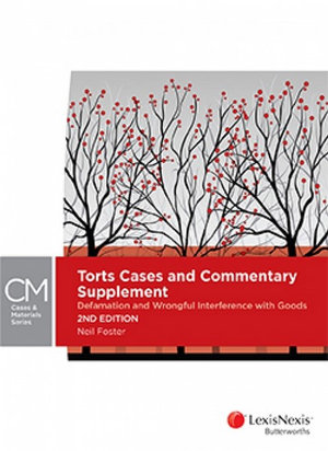 Cover of TORTS CASES AND COMMENTARY SUPPLEMENT