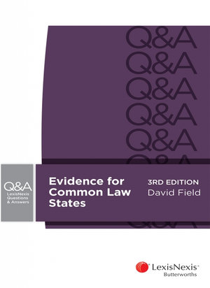 Cover of LexisNexis Questions and Answers: Evidence for Common Law States, 3rd edition