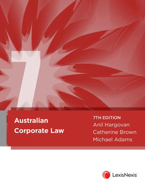 Cover of AUSTRALIAN CORPORATE LAW, 7TH EDITION.