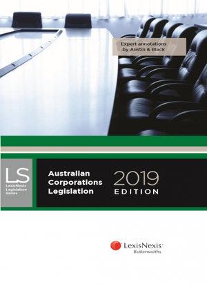 Cover of Australian Corporations Legislation, 2019 edition