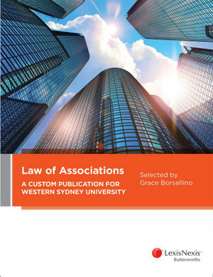 Cover of LAW OF ASSOCIATIONS