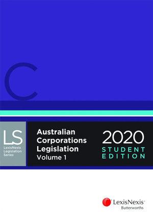 Cover of AUSTRALIAN CORPORATIONS LEGISLATION 2020