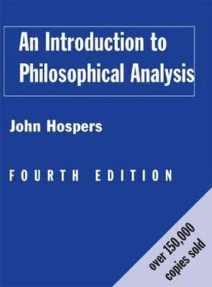 Cover of An Introduction to Philosophical Analysis