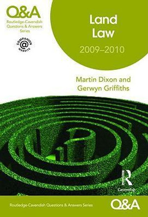 Cover of Land Law 2009-2010