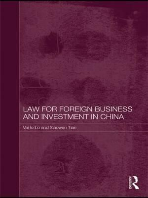 Cover of Law for Foreign Business and Investment in China